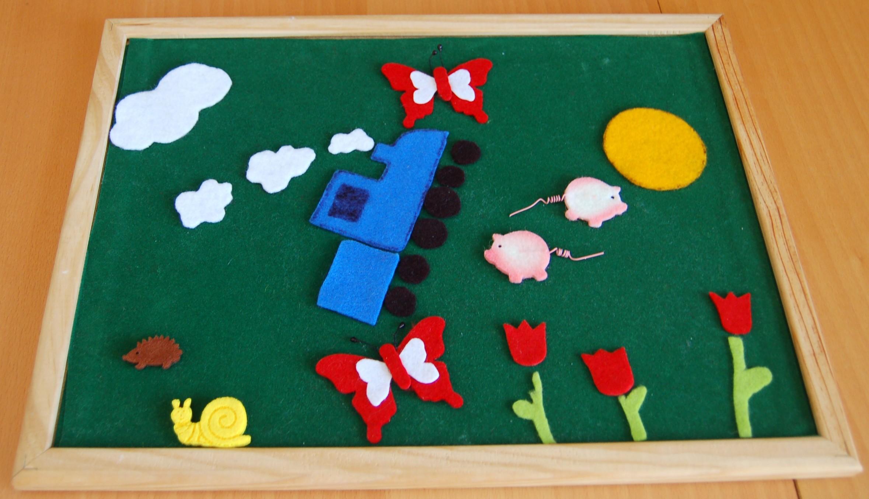 Colla Per Attaccare Quadri la lavagna di feltro: un quadro per piccoli artisti