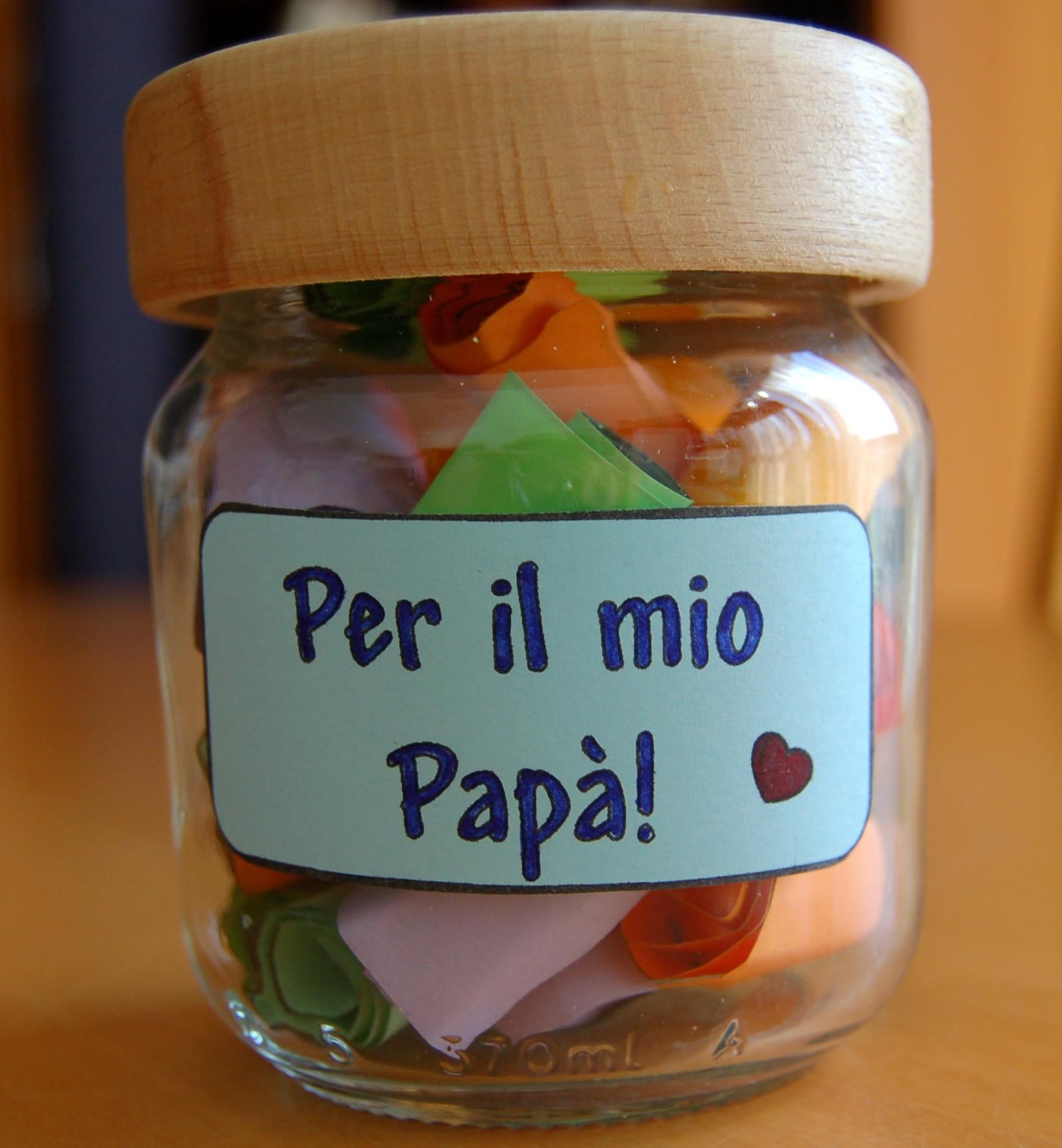 Amato Ancora regali per la Festa del Papà: il vasetto delle coccole | KZ56
