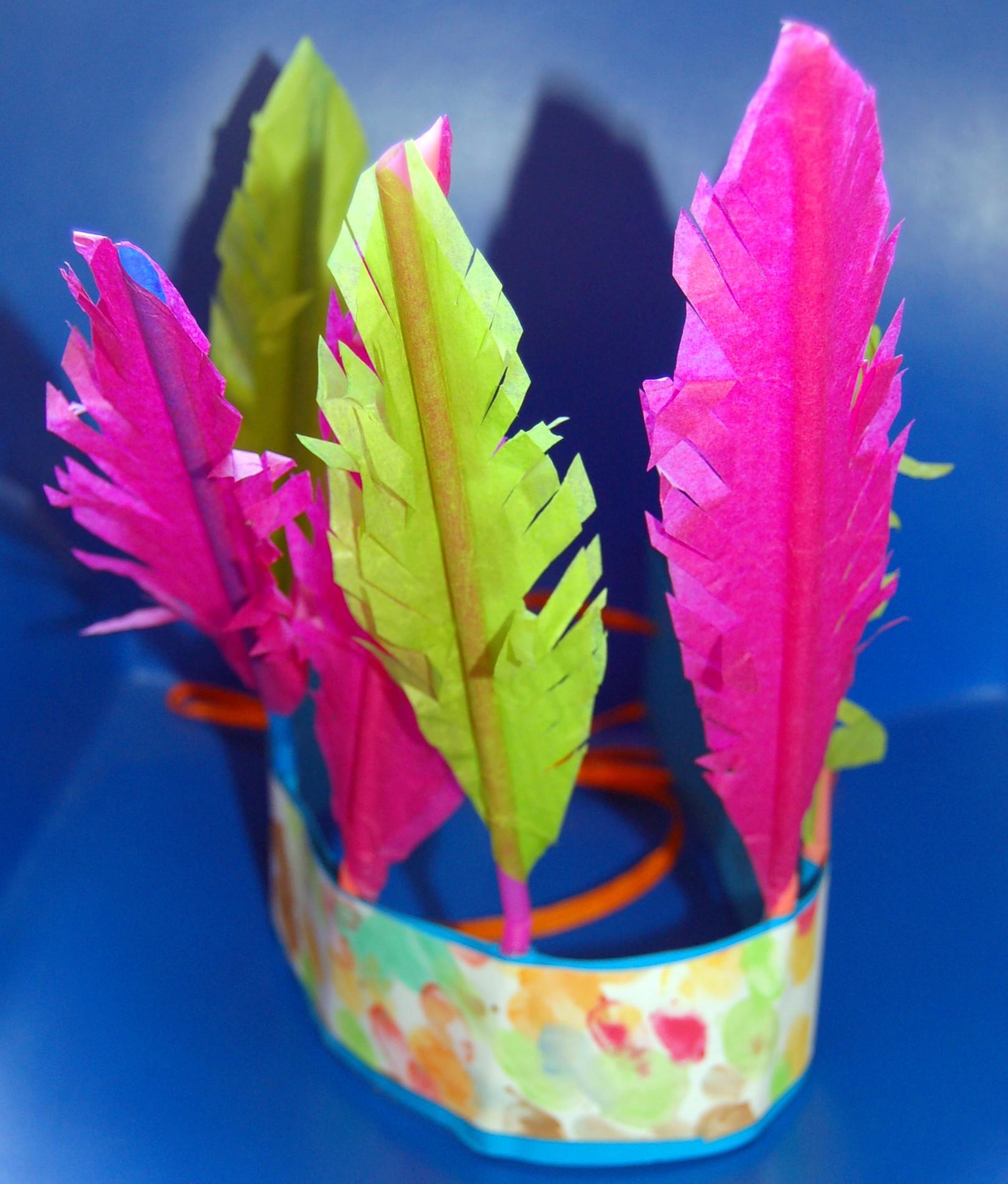 Tenda Indiani Fai Da Te giocare agli indiani: come costruire un copricapo di carta