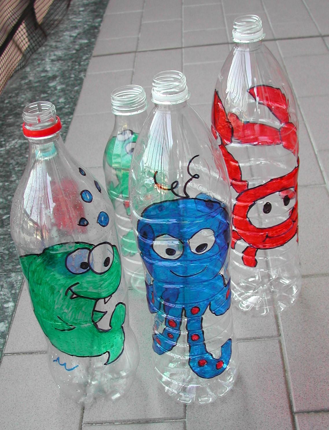 Bricolage Con Bottiglie Di Plastica.Giochi Con Bottiglie Di Plastica
