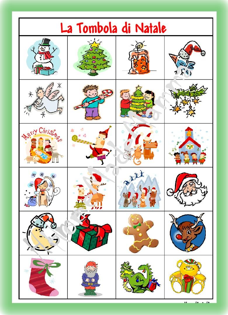 giochi natalizi per bambini la tombola e il memory di
