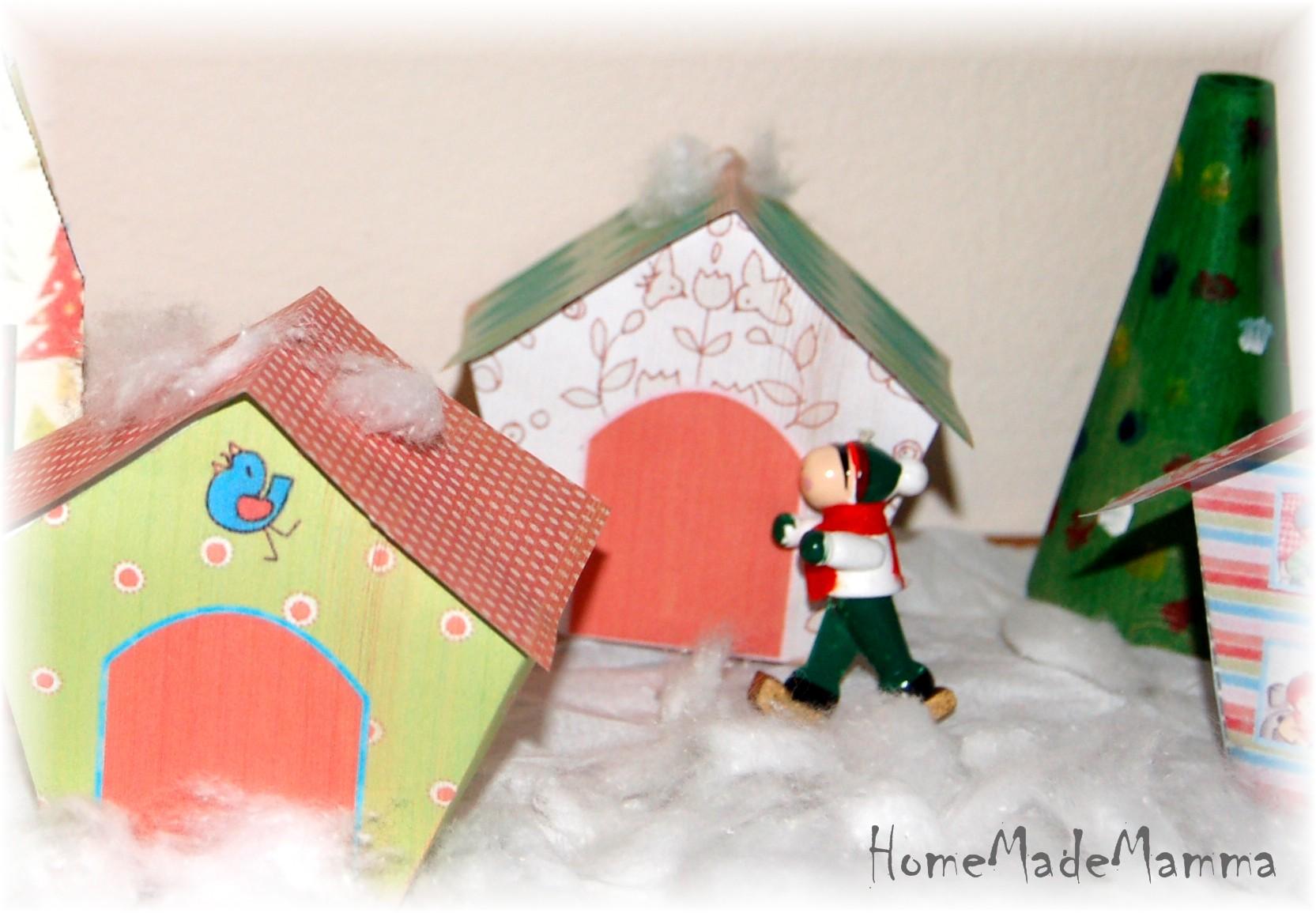 Casetta Di Natale Da Colorare : Costruire case di carta