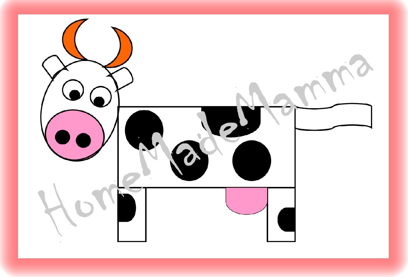 La fattoria creare animali con forme geometriche e sagome - Immagini di animali dello zoo per bambini ...