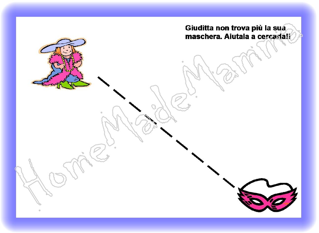 Scarabocchi di carnevale tante schede di pregrafismo for Schede carnevale da colorare