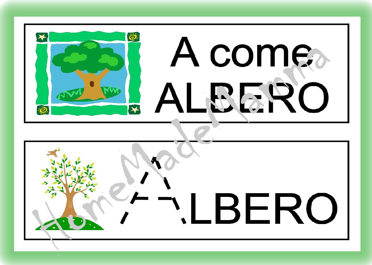 abbastanza A come Albero: schede per imparare a scrivere le lettere dell  LX83