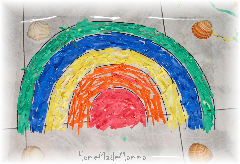 Un arcobaleno di stelle filanti - Arcobaleno a colori e stampa ...