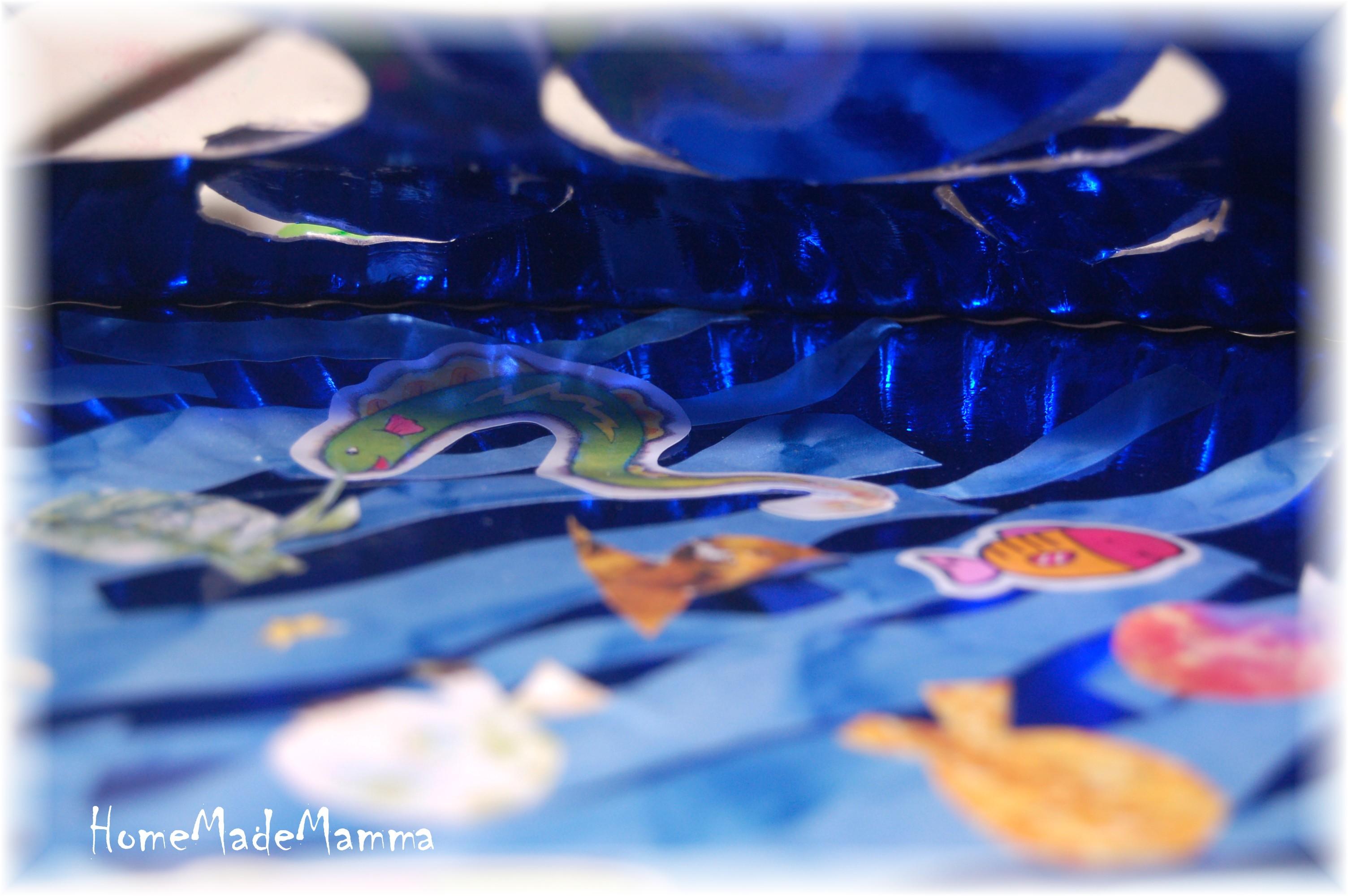 L acquario di carta del pesciolino arcobaleno for Blu di metilene acquario