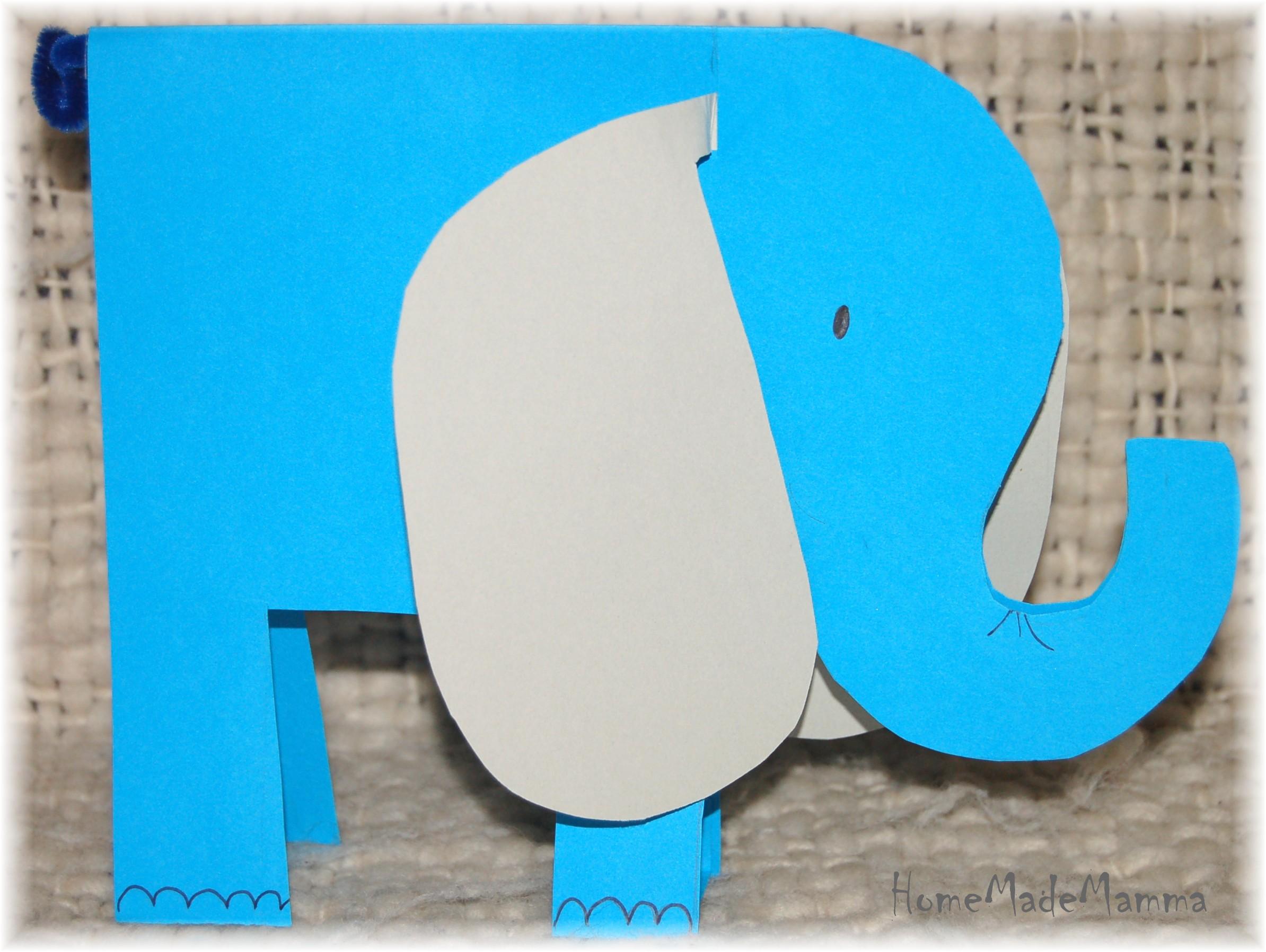 Lavoretti con la carta part 2 - Libro da colorare elefante libro ...