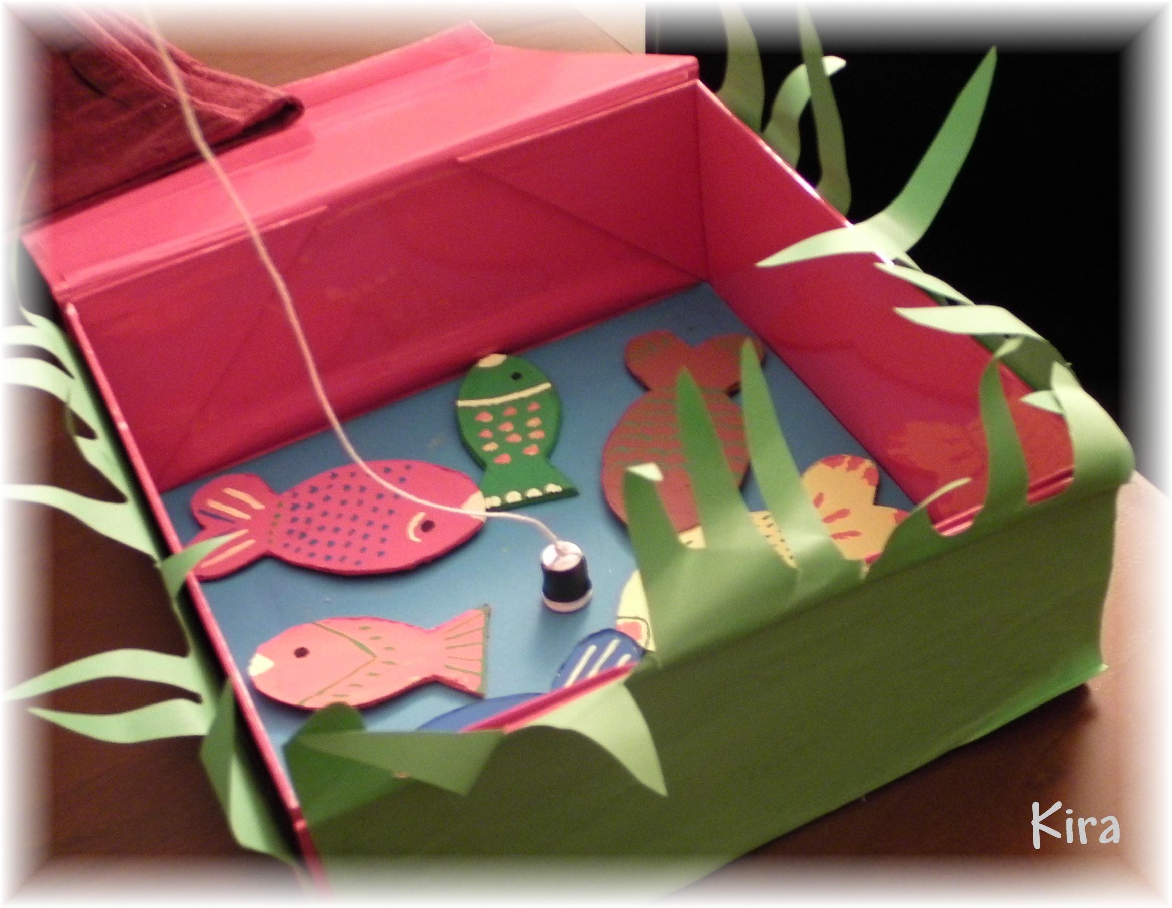 Lavoretti con il cartone part 2 for Filtro acquario fai da te