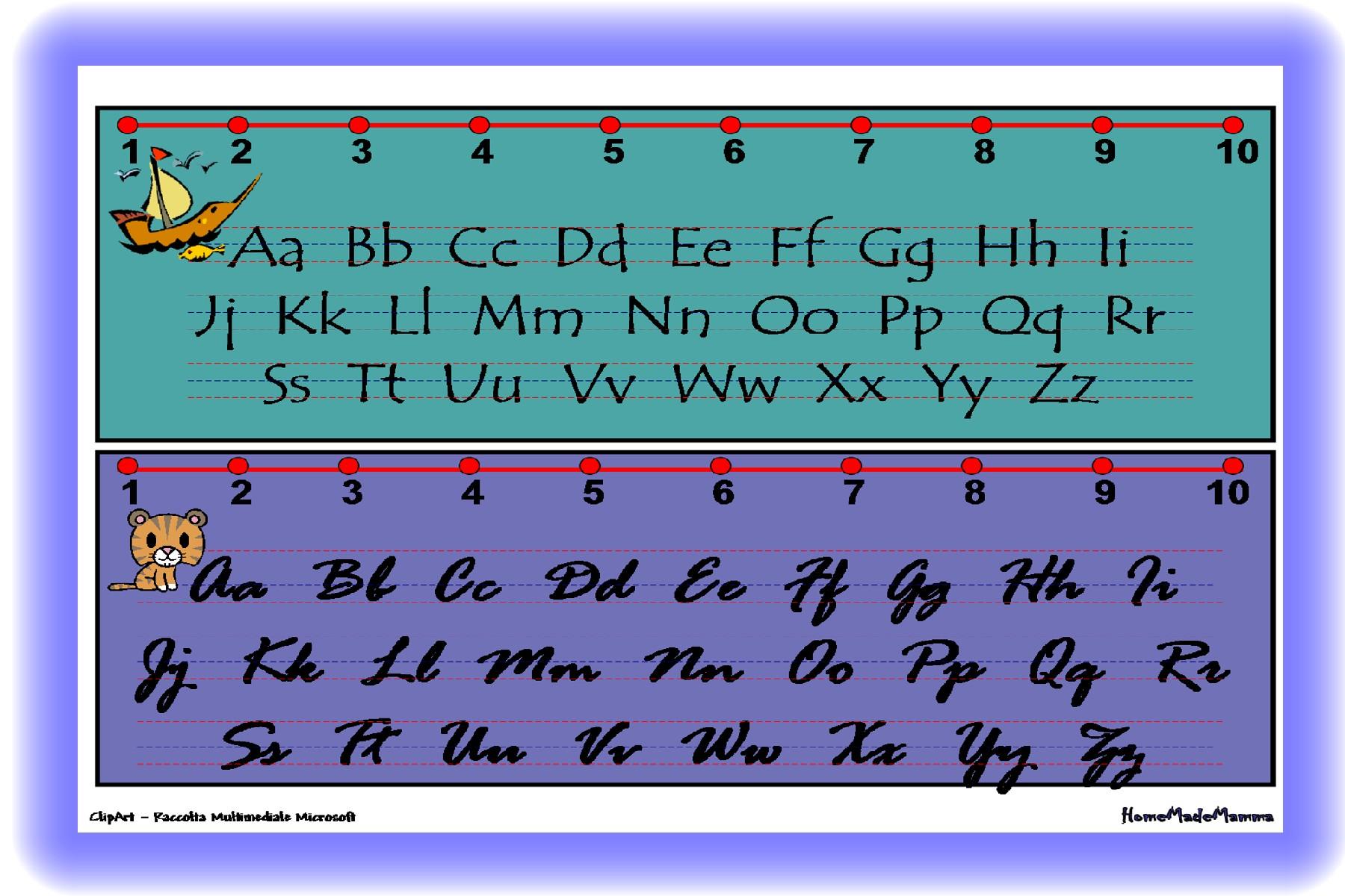 Bambini lettere dell alfabeto lettera e corsivo maiuscolo pictures to - Ogni Lettera