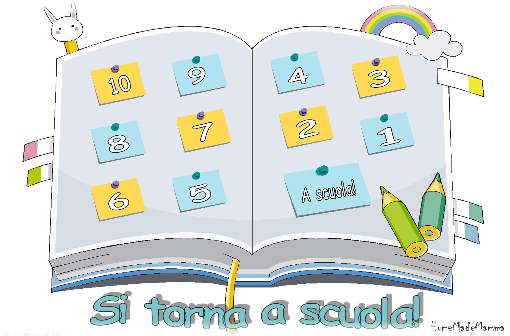 Si torna a scuola idee per costruire un calendario conto - Torna a scuola da colorare ...