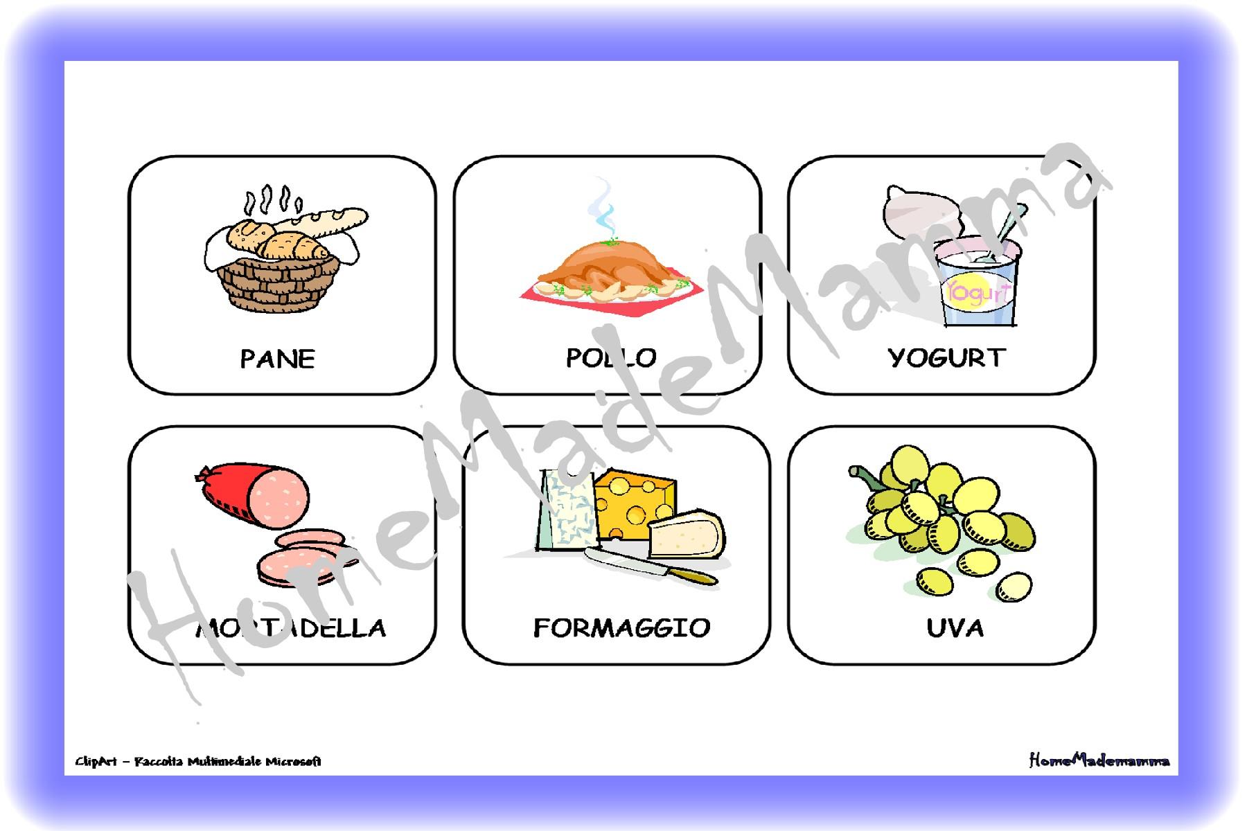 Il Memory E Il Domino Degli Alimenti