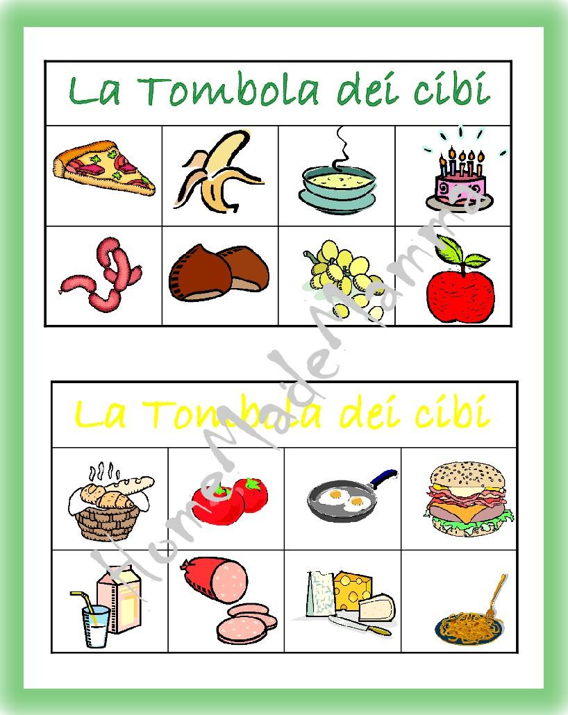 Bien connu La tombola degli alimenti: giochi da tavolo fai da te | XH99