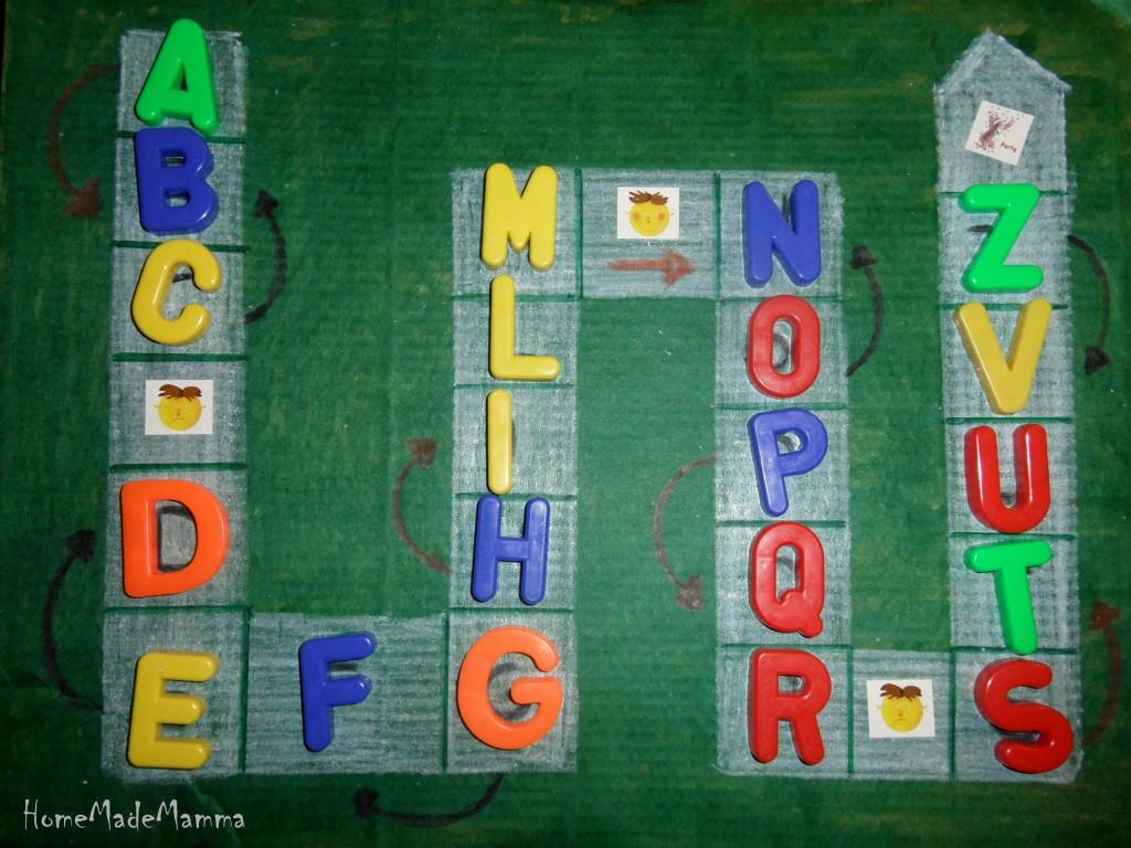 Il gioco dell oca per imparare l alfabeto for Gioco dell oca alcolico da stampare