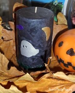 Fantasmi pipistrelli e zucche decorare le candele per for Decorare candele