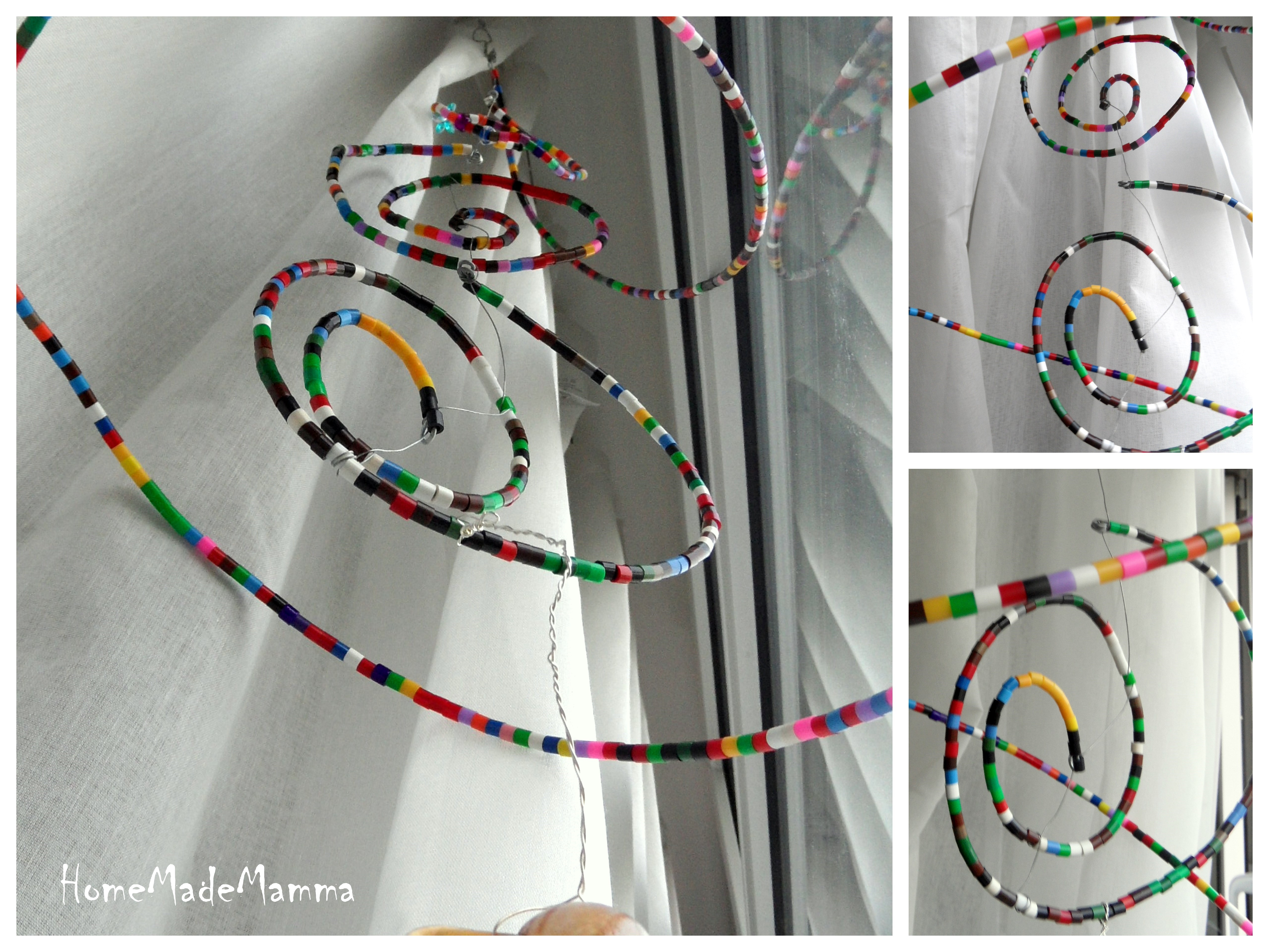 Decorare Finestre Per Natale Scuola la spirale di perline: decorazioni di natale fatte dai bambini