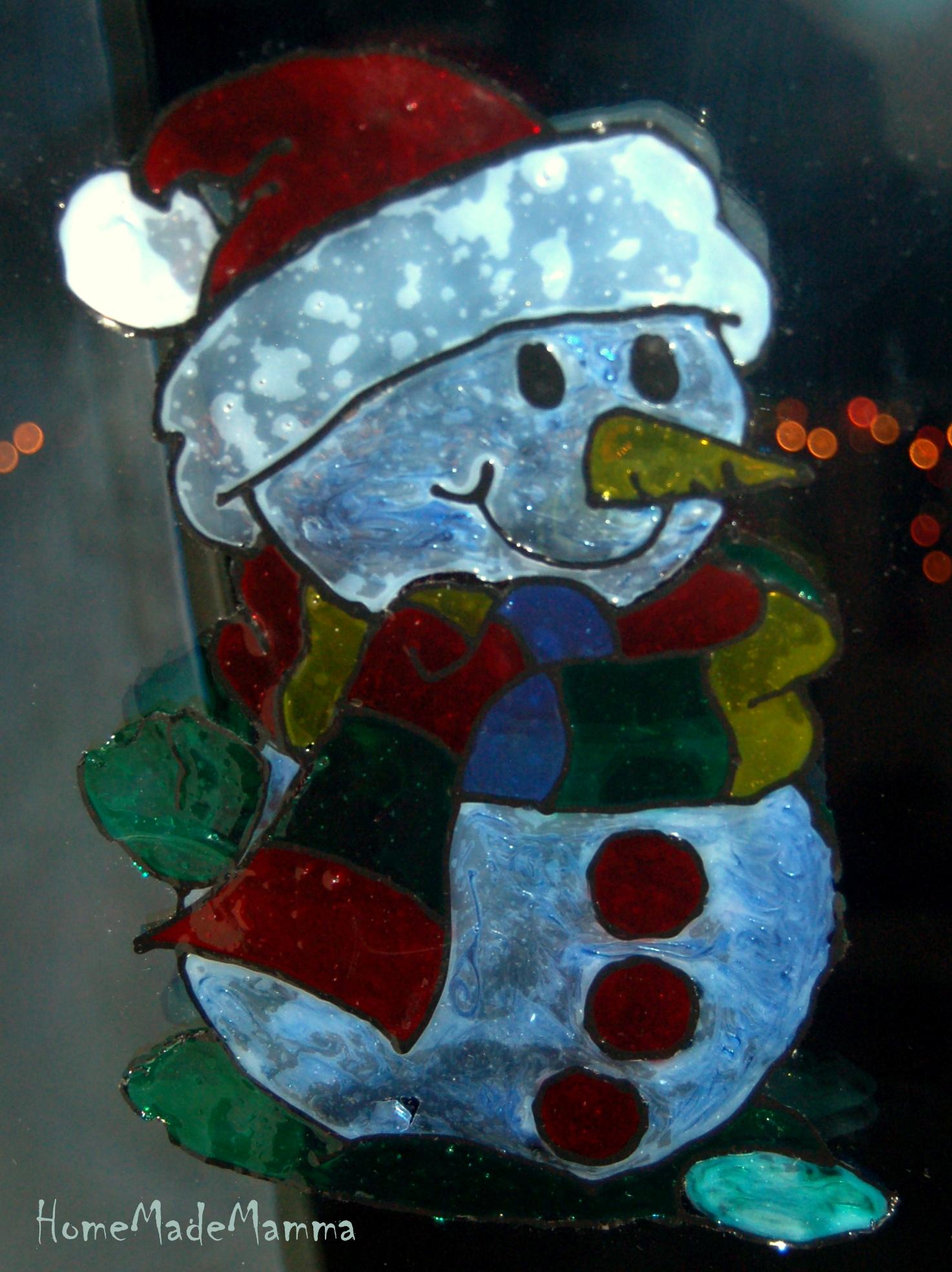 Alberelli candele renne vetrofanie natalizie fai da te - Decorazioni natalizie fai da te per finestre ...
