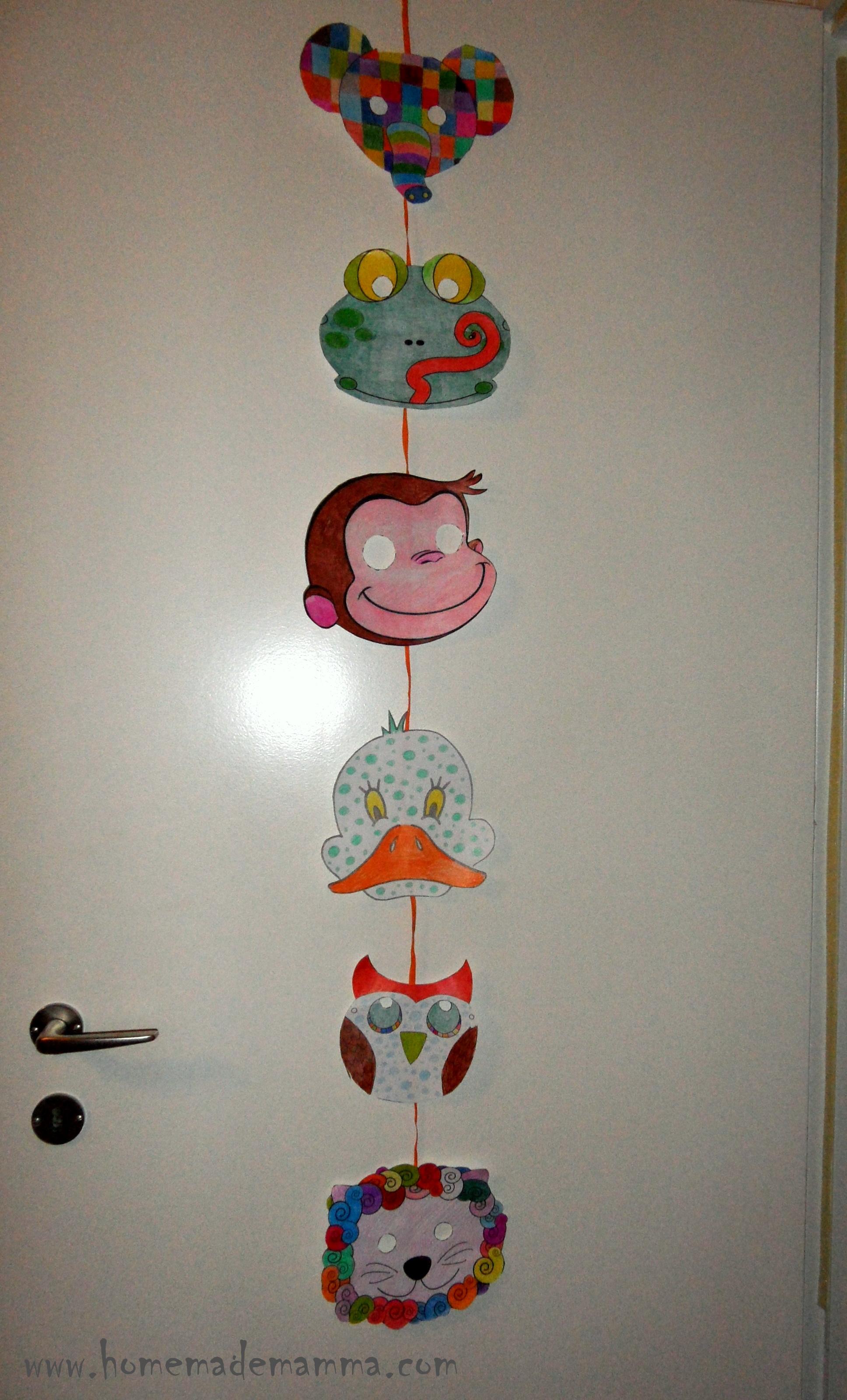 Decorazioni di carnevale da realizzare a scuola for Decorazioni di carta da appendere