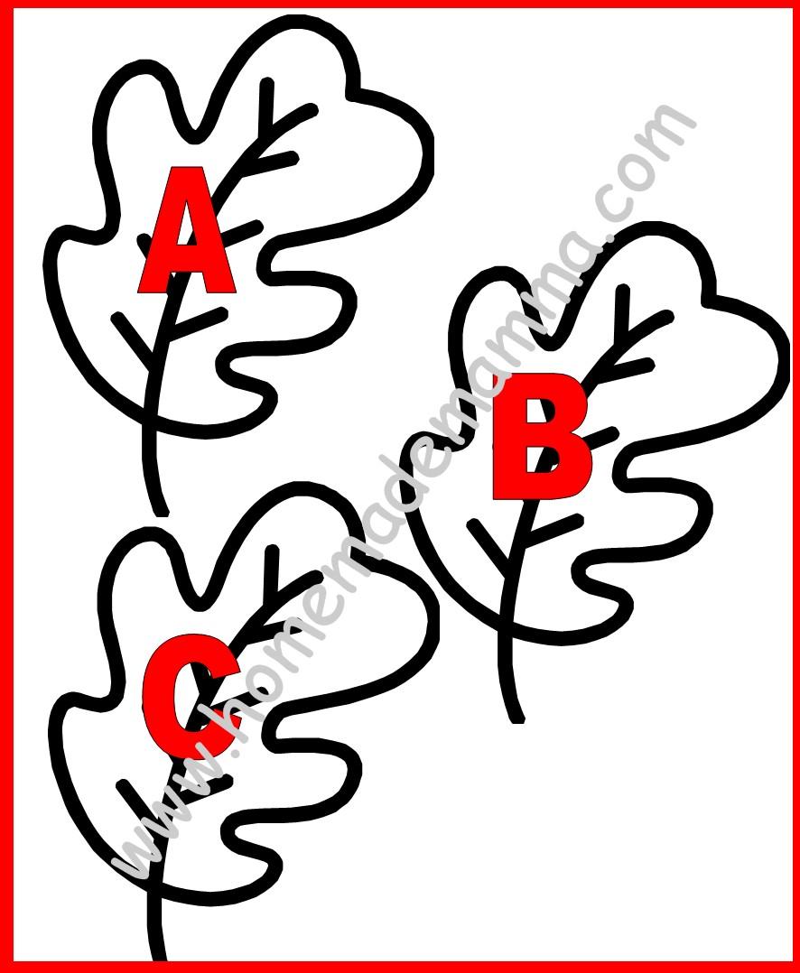 Lettere Alfabeto Da Copiare un alfabeto di foglie per creare un albero di lettere