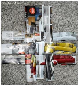 cestino di pasqua con carta di riciclo