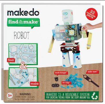 kit per costruire robot con cartoni e materiale di riciclo