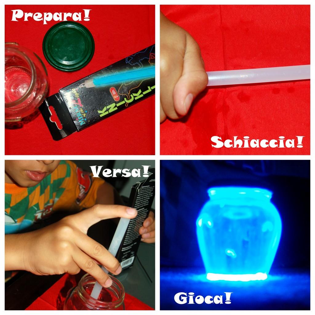 lanterna fosforescente fai da te