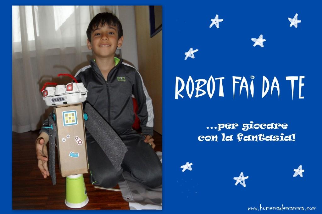 robot fai da te con i cartoni