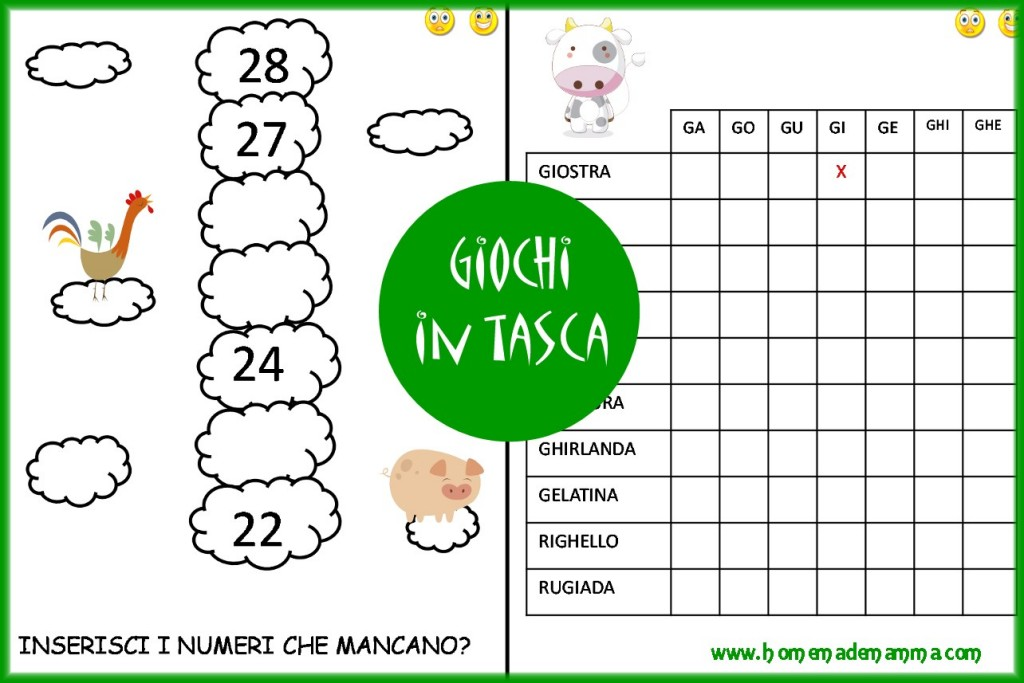 schede italiano e matematica gratis primaria fattoria