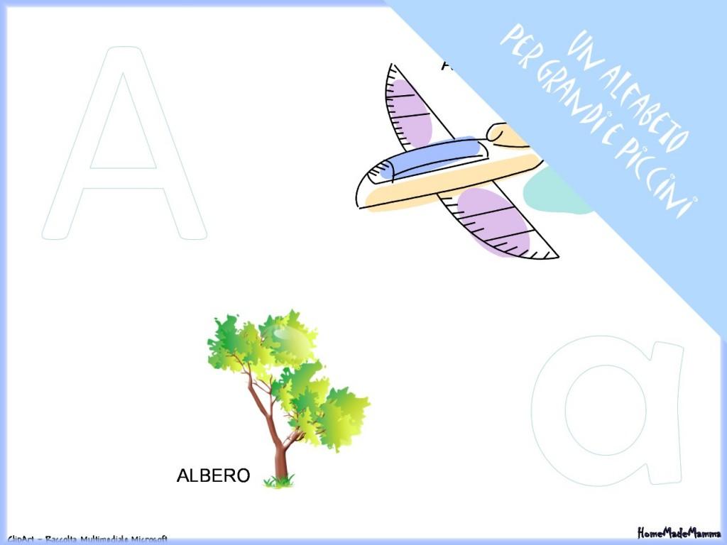 alfabeto con immagini da stampare gratis