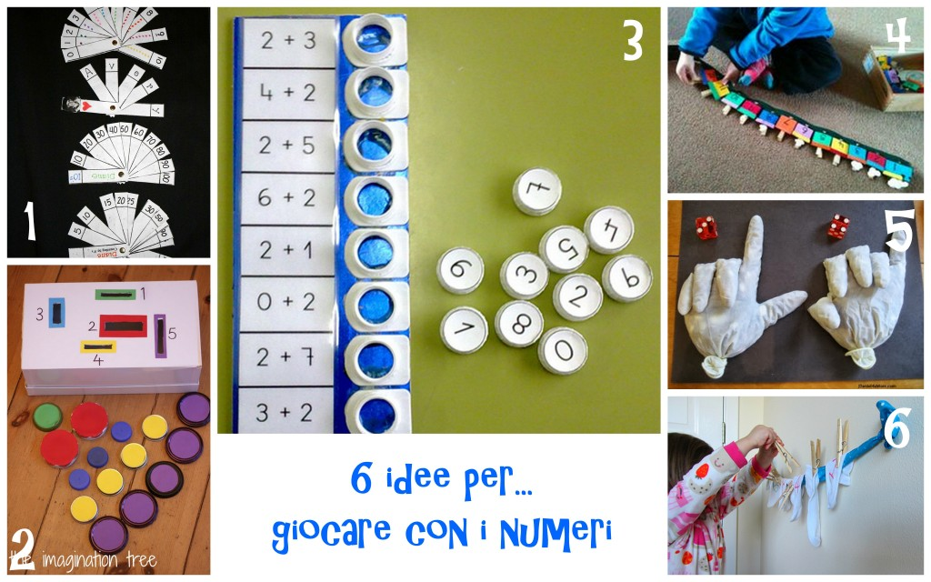 attività e giochi per imparare  i numeri addizioni sottazioni