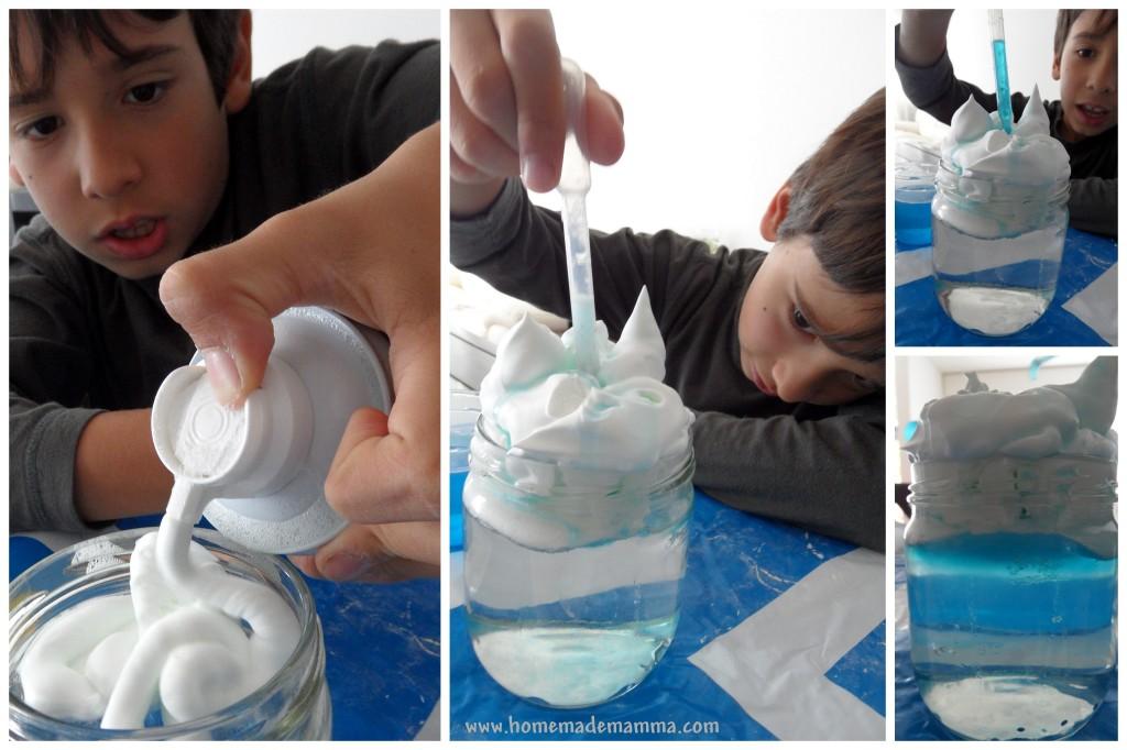esperimenti scientifici con i bambini creare un temporale