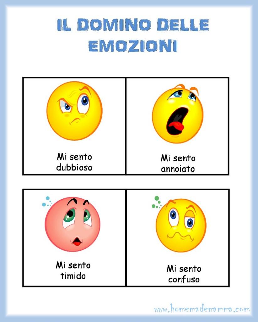 domino delle emozioni da stampare