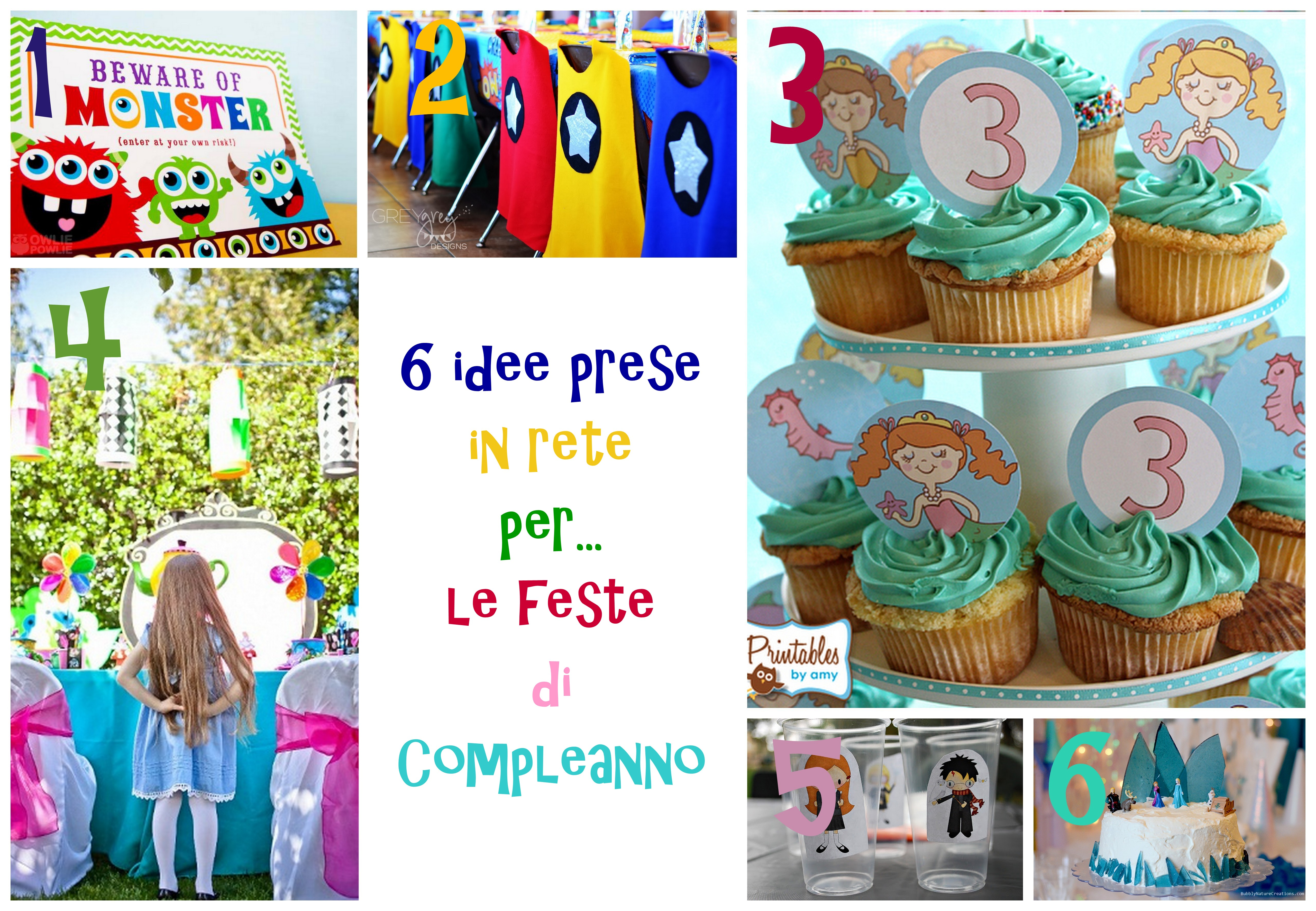 Super 6 idee prese in rete per… le feste di compleanno TL01