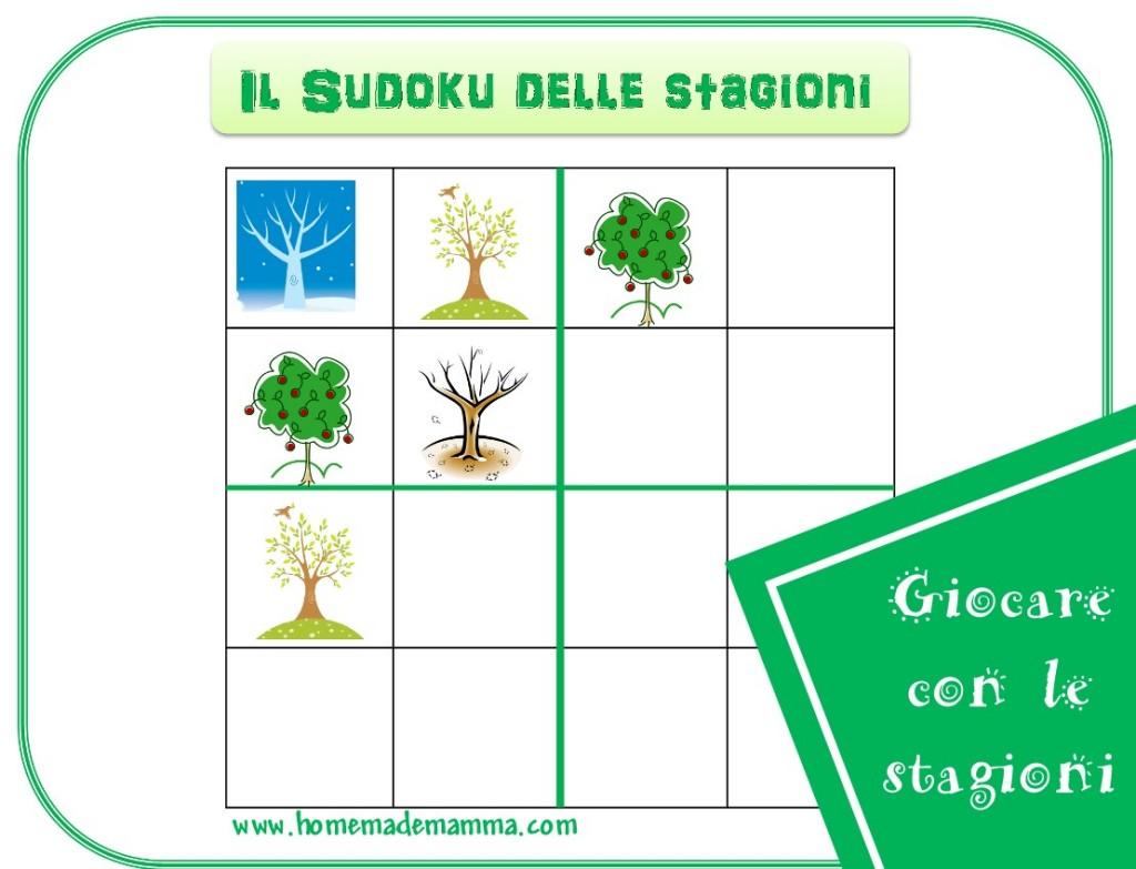 sudoku delle stagioni da stampare gratis