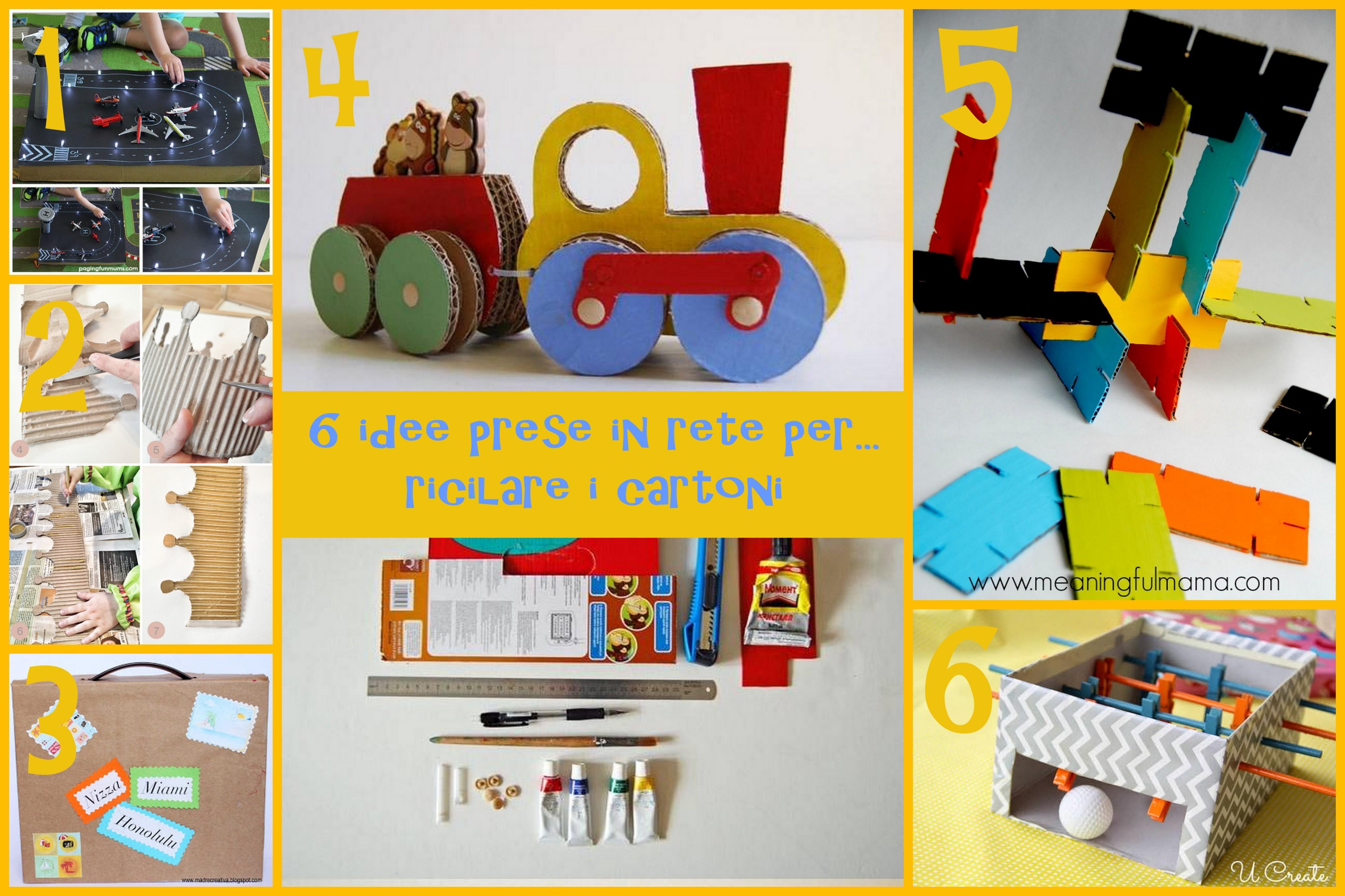 Connu 6 idee prese in rete per riciclare le scatole di cartone | EB76