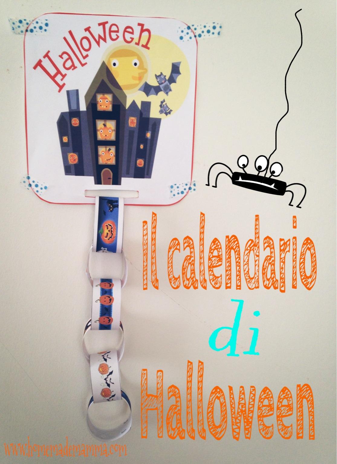 calendario conto alla rovescia di Halloween fai da te