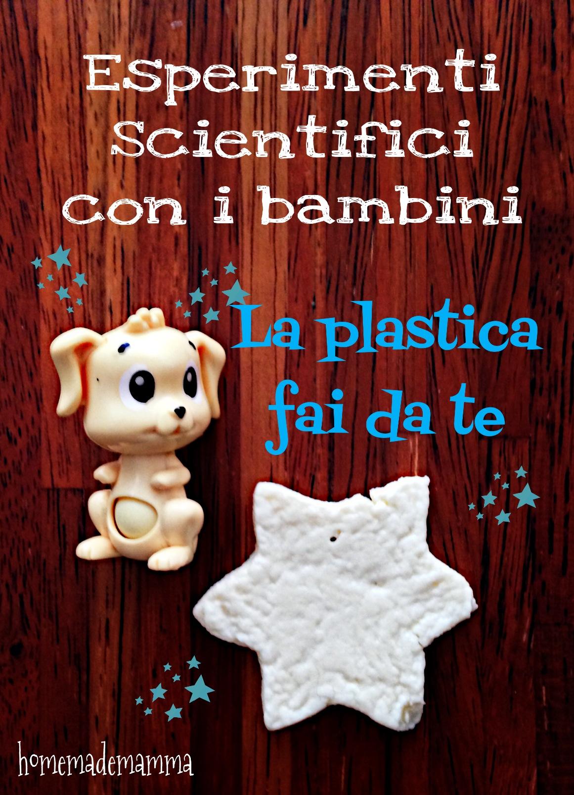 creare la plastica in casa esperimeti scientifici con i bambini