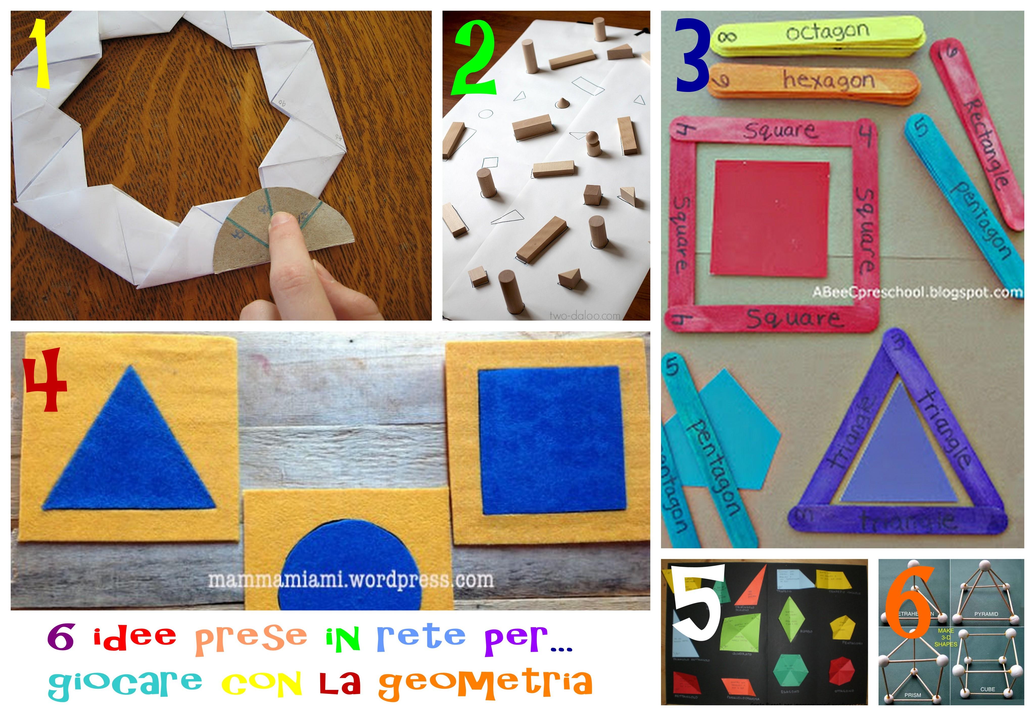 idee e attività e giochi per imparare la geometria