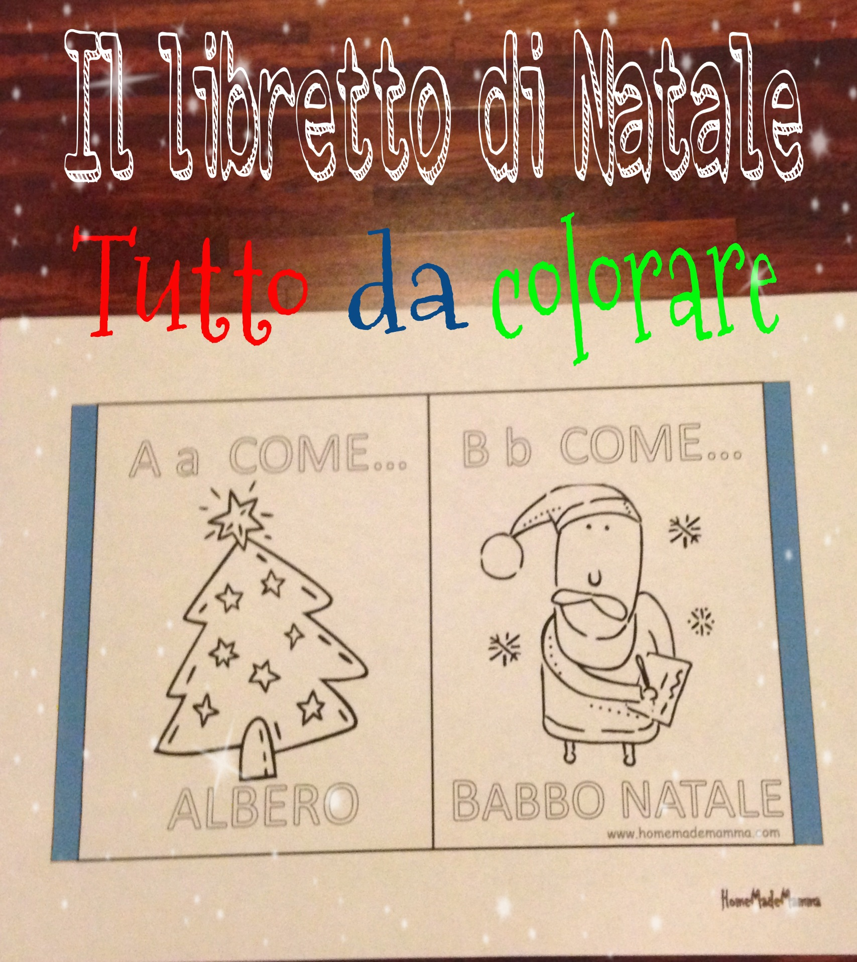 libretto di natale da colorare