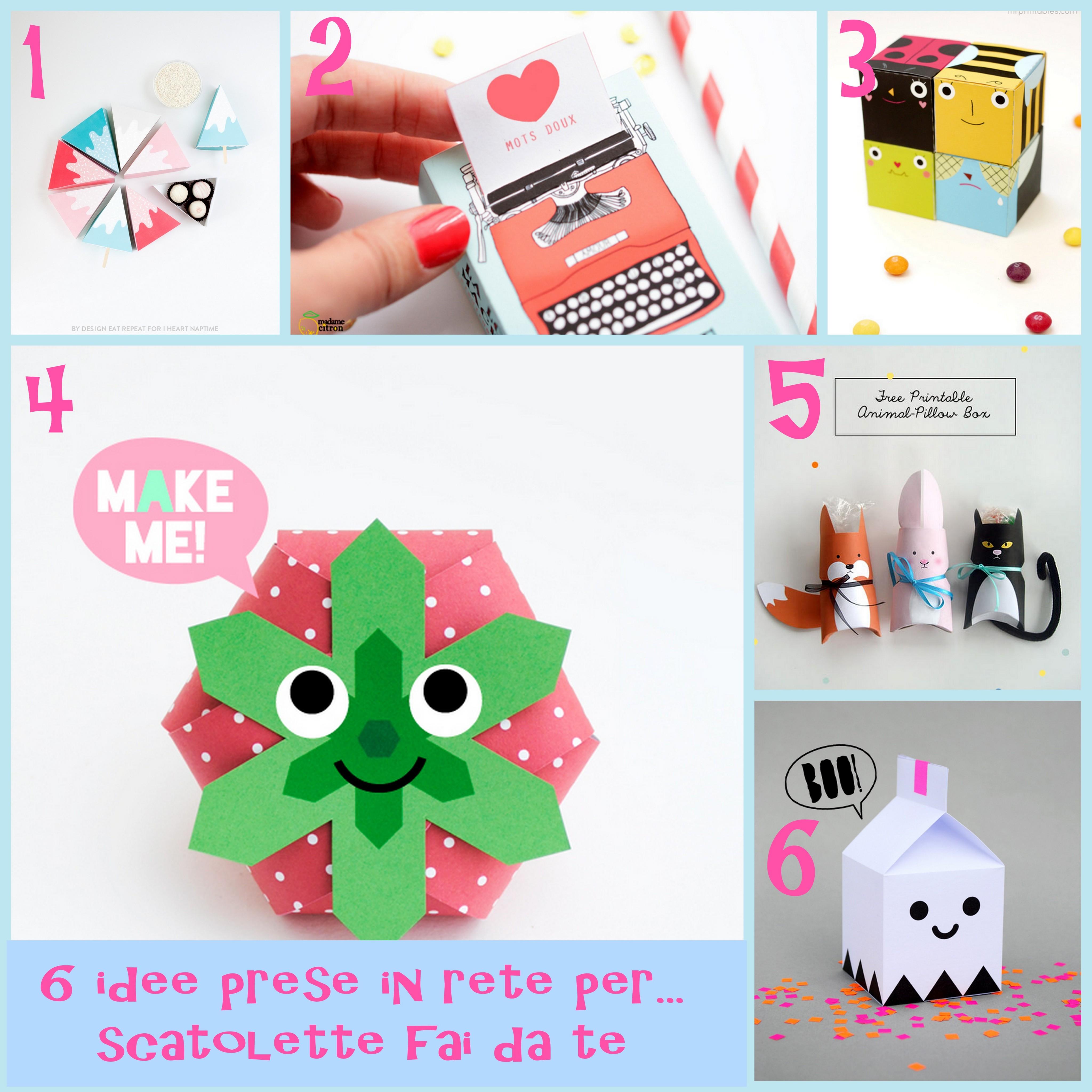 6idee per creare scatolette di carta