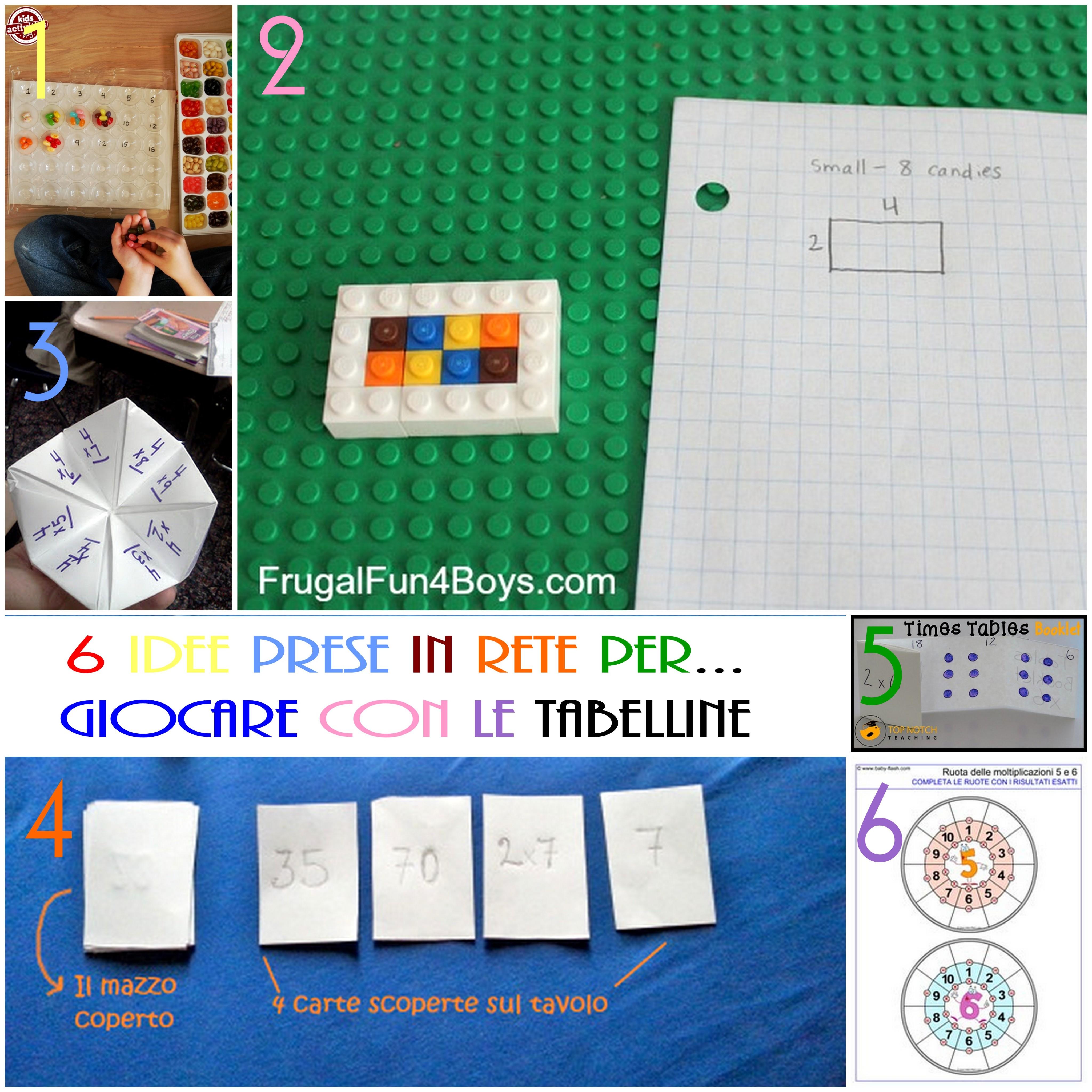 idee attività per imparare le tabelline