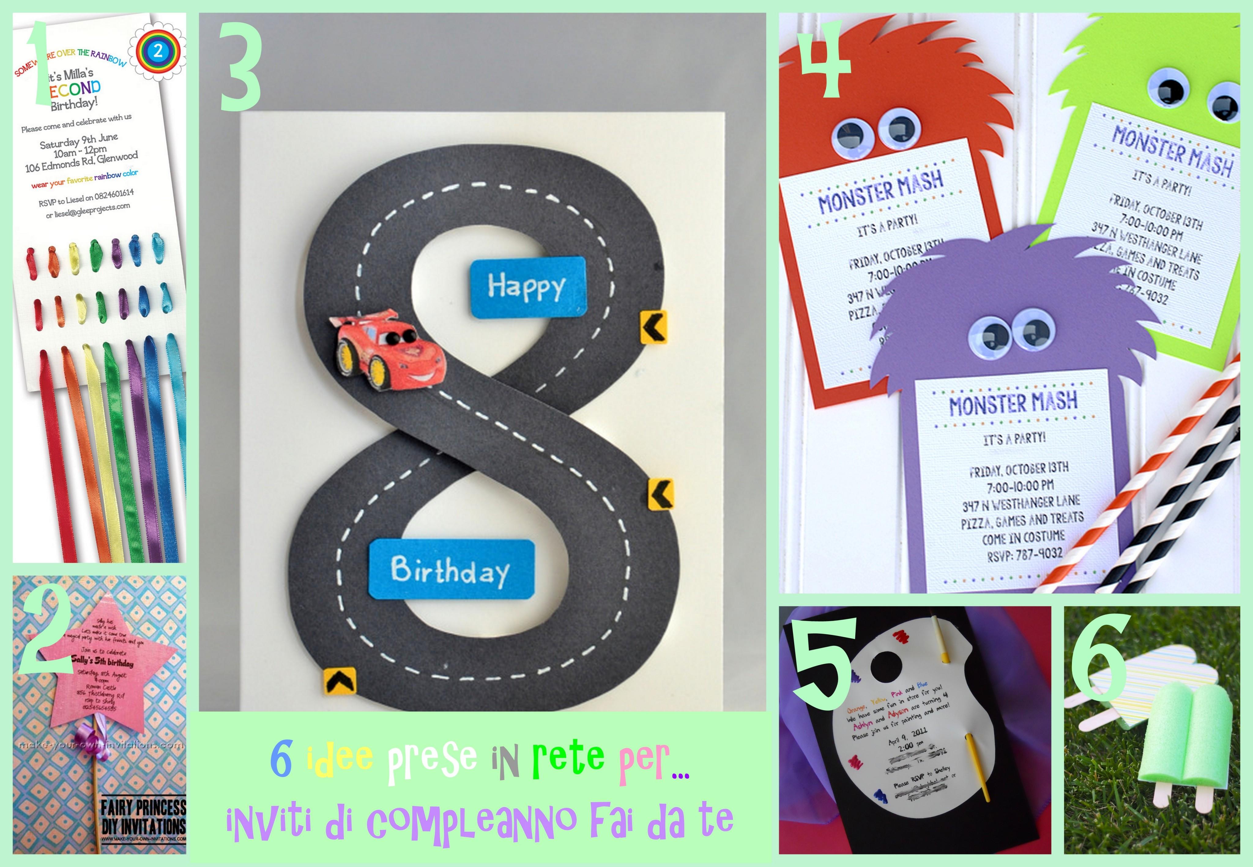 idee per inviti compleanno bambini