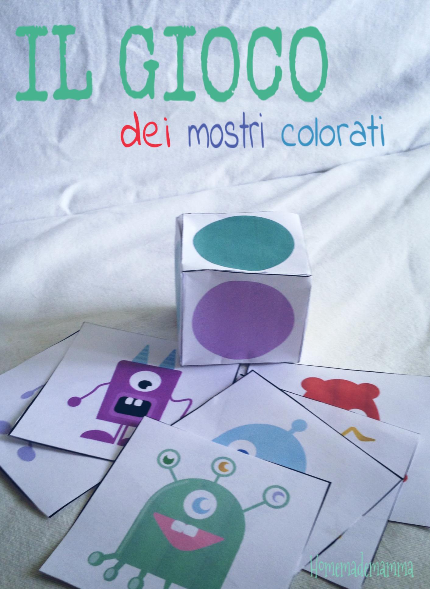 il gioco dei mostri colorati