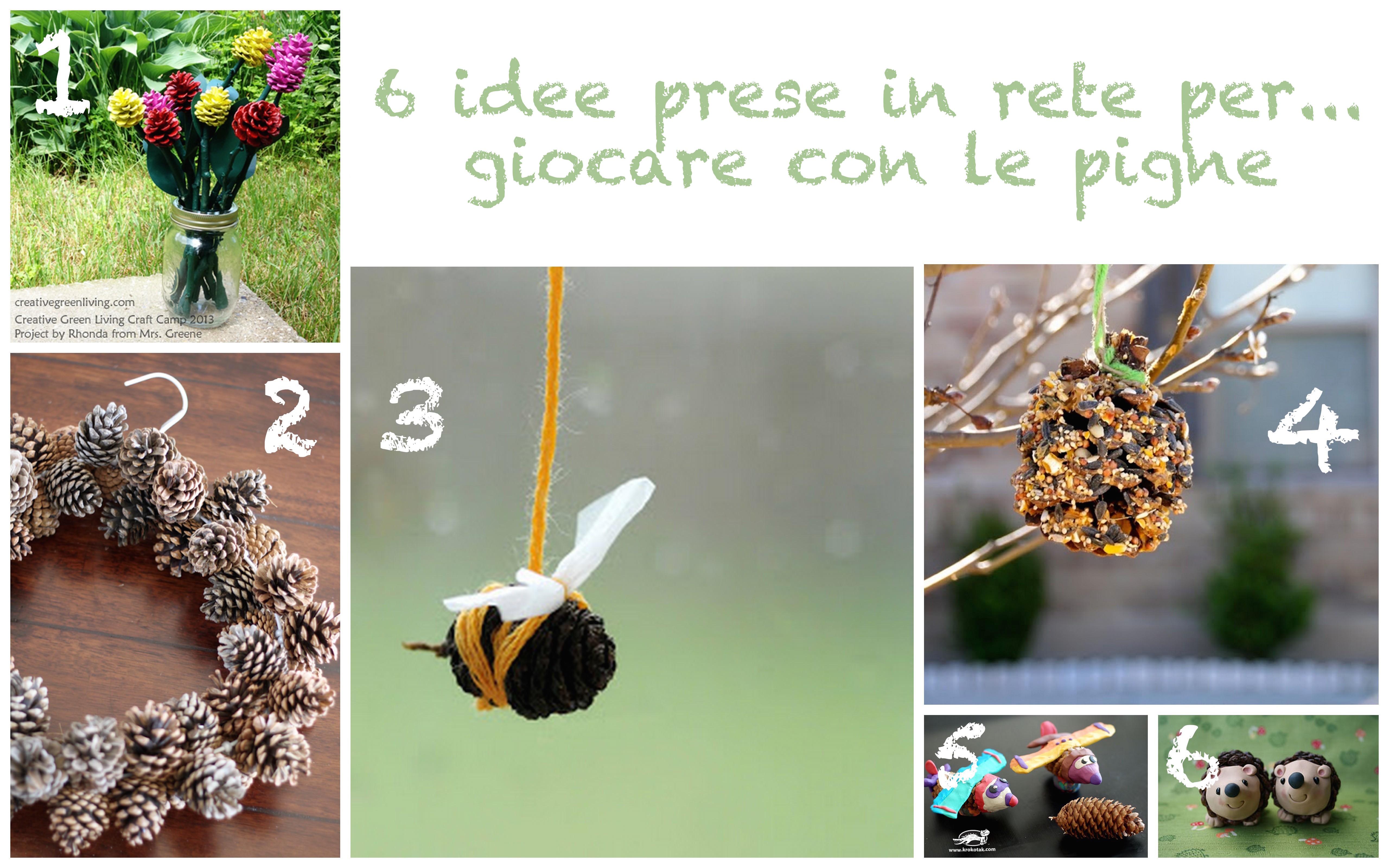 6 idee per giocare con le pigne