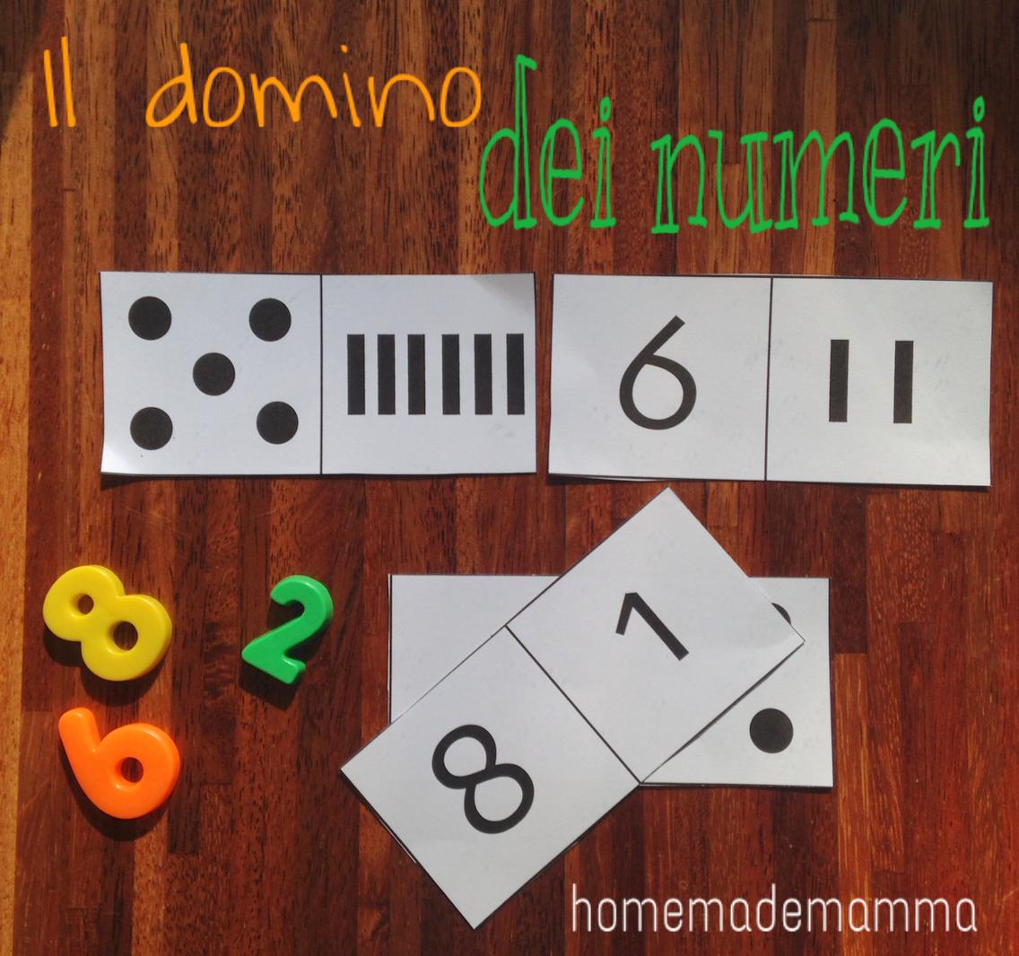 il domino dei numeri da stampare