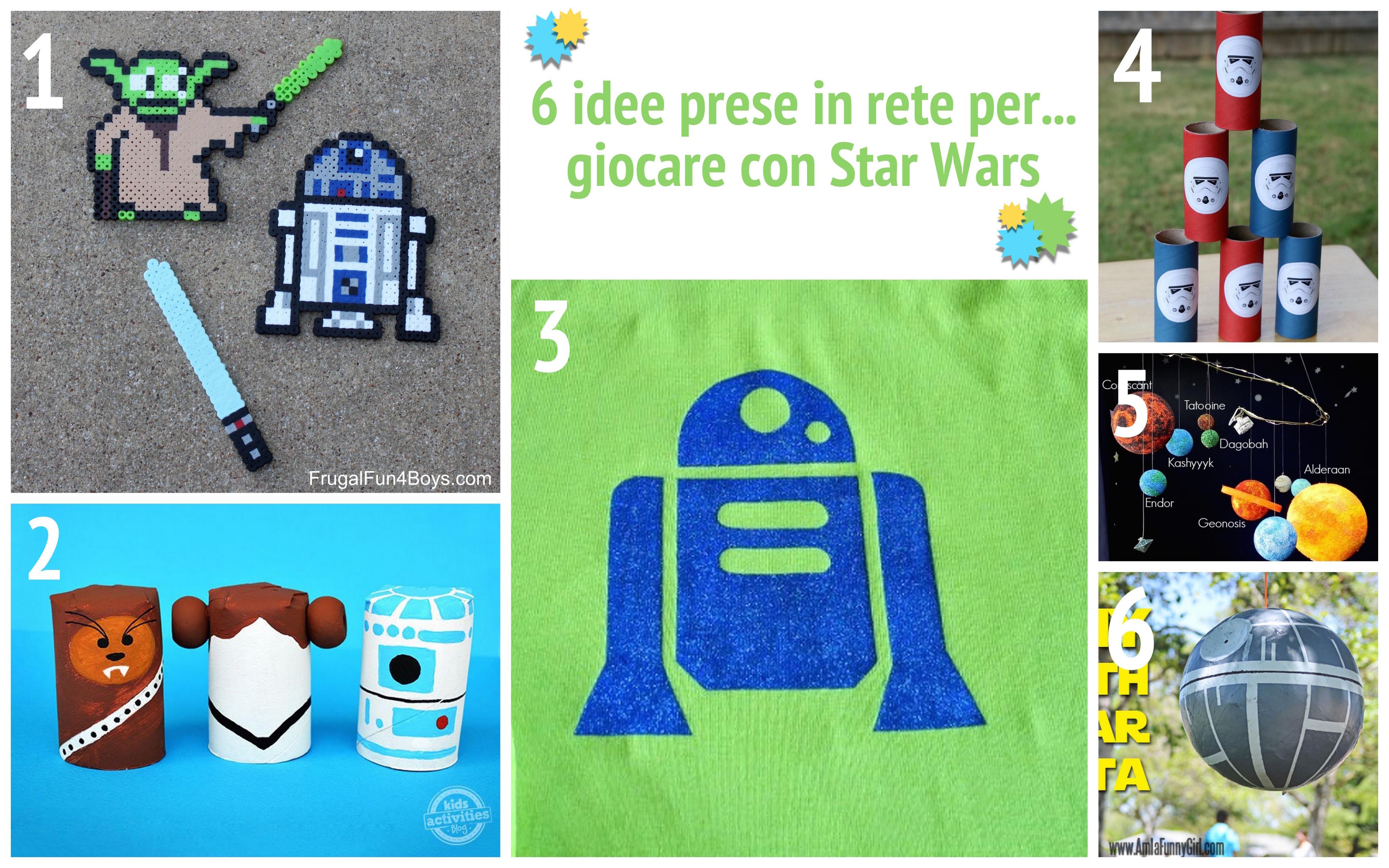 6 idee attività lavoretti star wars