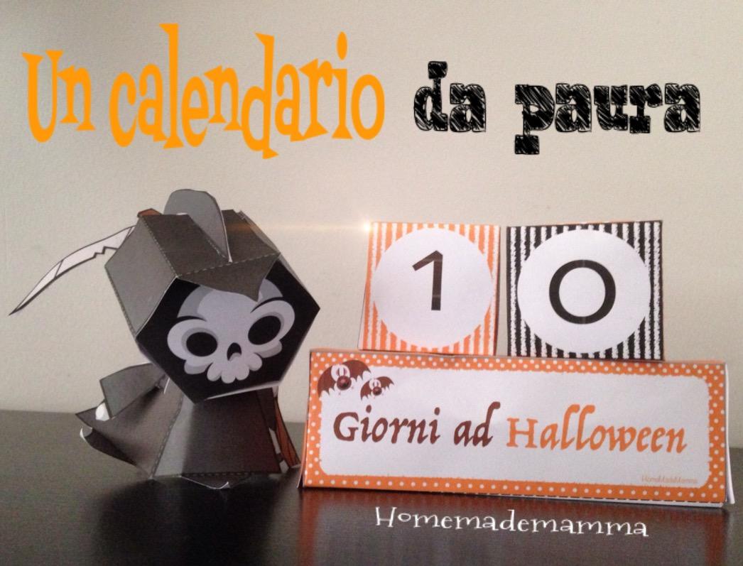 calendario conto alla rovescia halloween fai da te