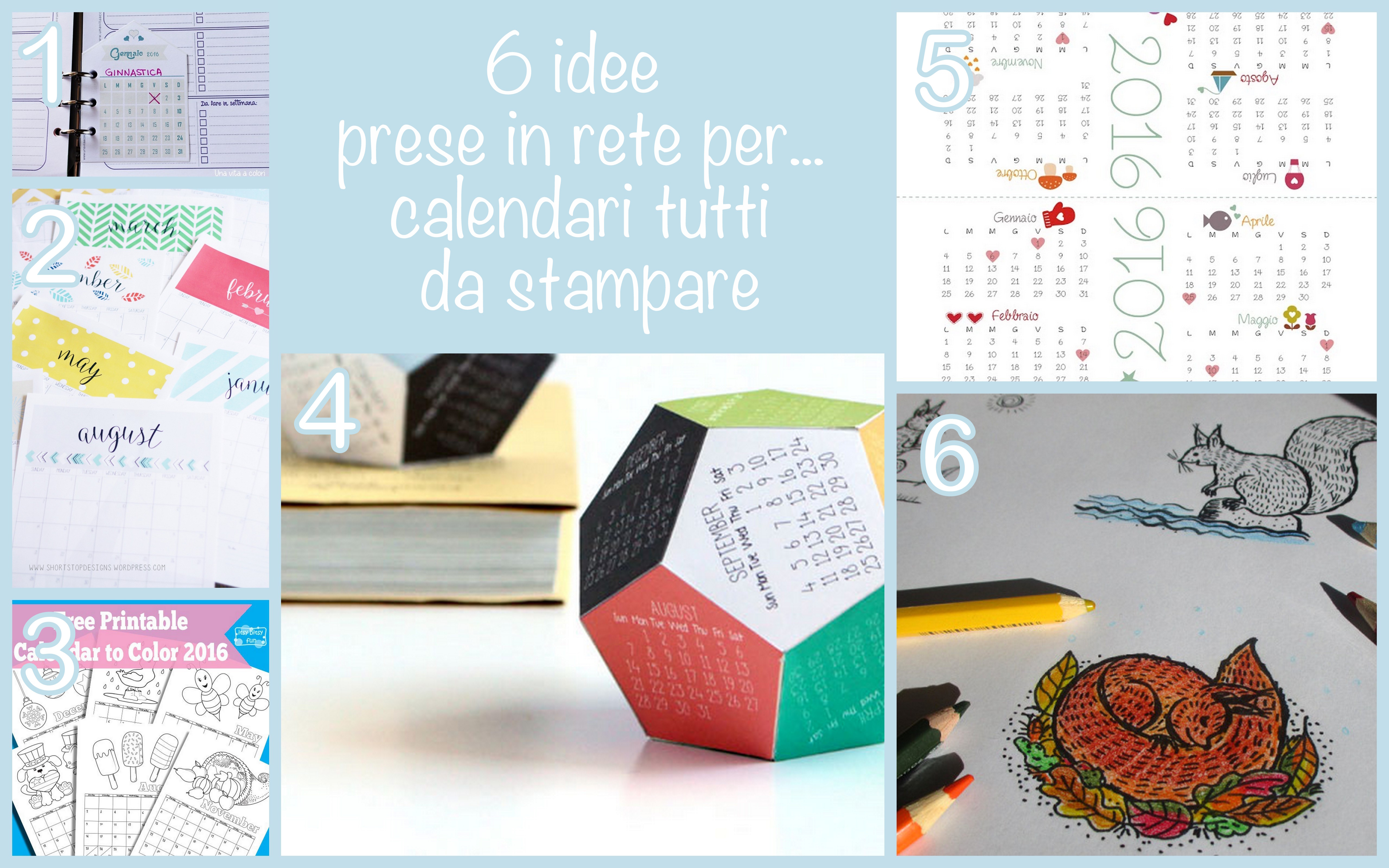 Calendario Anno 2016 Da Stampare.Calendario Fai Da Te