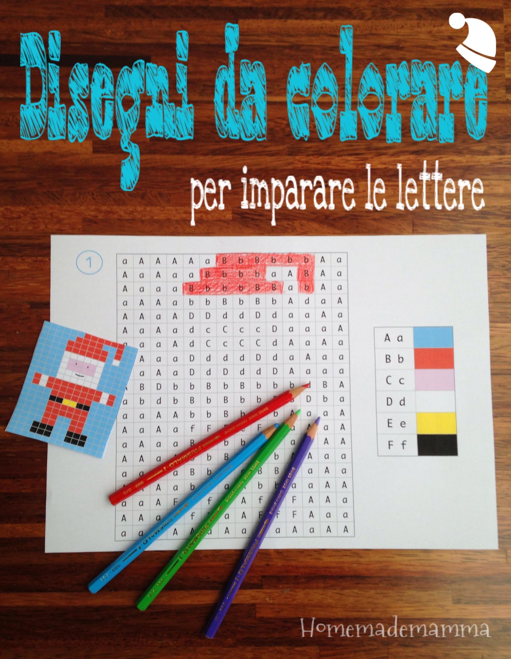Disegni natalizi da colorare per imparare le lettere - Lettere animali da stampare ...