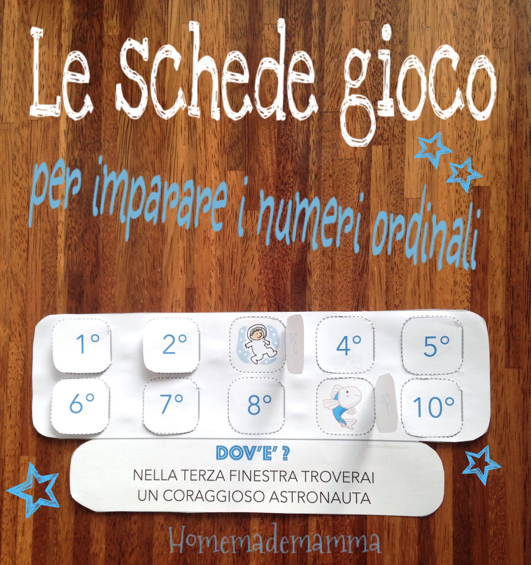 """Preferenza Primo, secondo, terzo!"""": le schede gioco per imparare i numeri  NQ45"""
